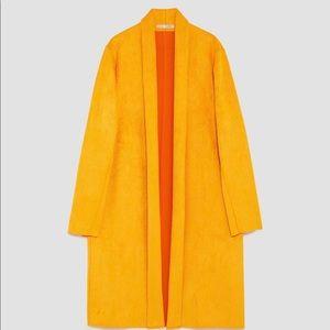 ZARA || Mustard faux suede coat